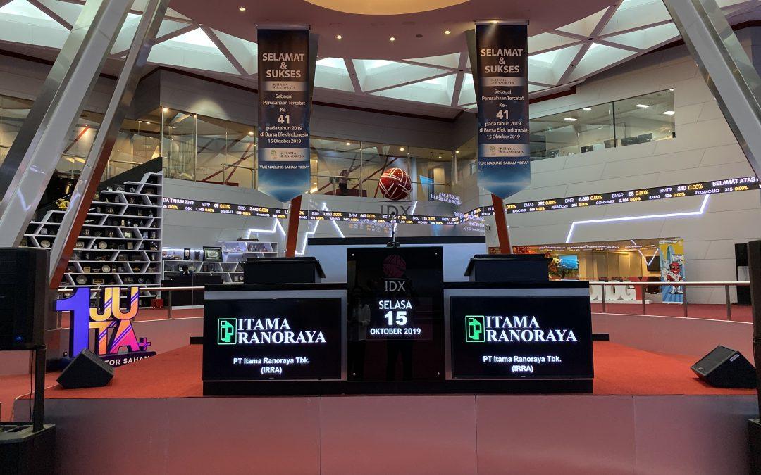 Resmi IPO, saham Itama Ranoraya (IRRA) melesat 49,73%