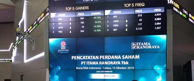 Resmi IPO, saham Itama Ranoraya (IRRA) Diminati Investor